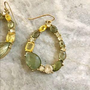 Anthropologie Teardrop Stone Earrings